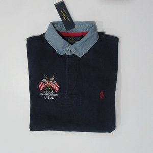 Ralph Lauren SS Slim Fit USA Mesh Rugby Shirt Sm